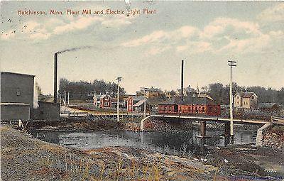HUTCHINSON MN 1907-08 Flour Mill & Electric Light Plant VINTAGE LONG GONE GEM+++