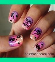 Trick Or Treat Halloween Nail Design | MissJenFabulous F.s . #nailcolours