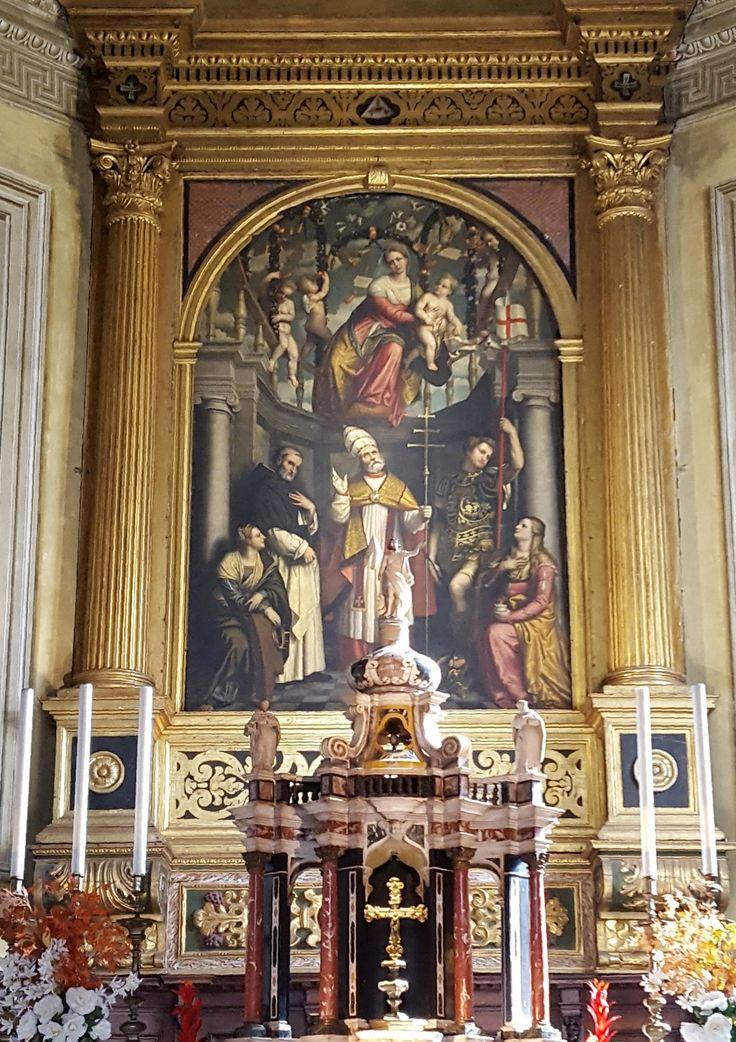 Brescia: San Clemente Madonna col bambino Moretto