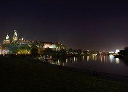 Polska, Kraków, Wawel, Nocą