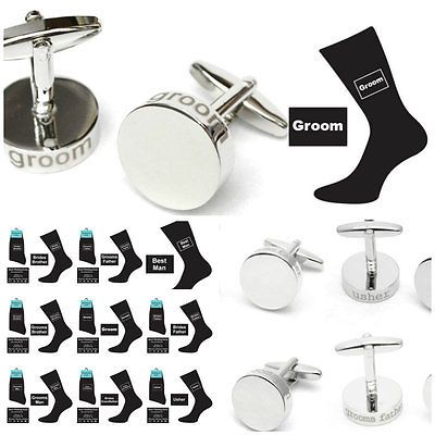 Silver #colour wedding #cufflinks & socks set #groom best man usher gift ws4/sock,  View more on the LINK: 	http://www.zeppy.io/product/gb/2/321143273222/