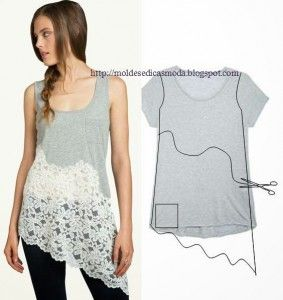 11wonderful Ideas to Refashion shirt into Chic Top5