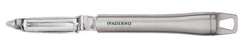 Paderno World Cuisine 8-1/4-Inch Swivel Action Potato Peeler, Stainless Steel Blade and Handle by Paderno World Cuisine. $21.90. With comfortable handle. Dishwasher safe. With strong stainless steel blades. Easy to use. With loop for hanging. The Paderno World Cuisine 8-1/4-inch potato peeler has a stainless steel blade and handle.. Save 92%!