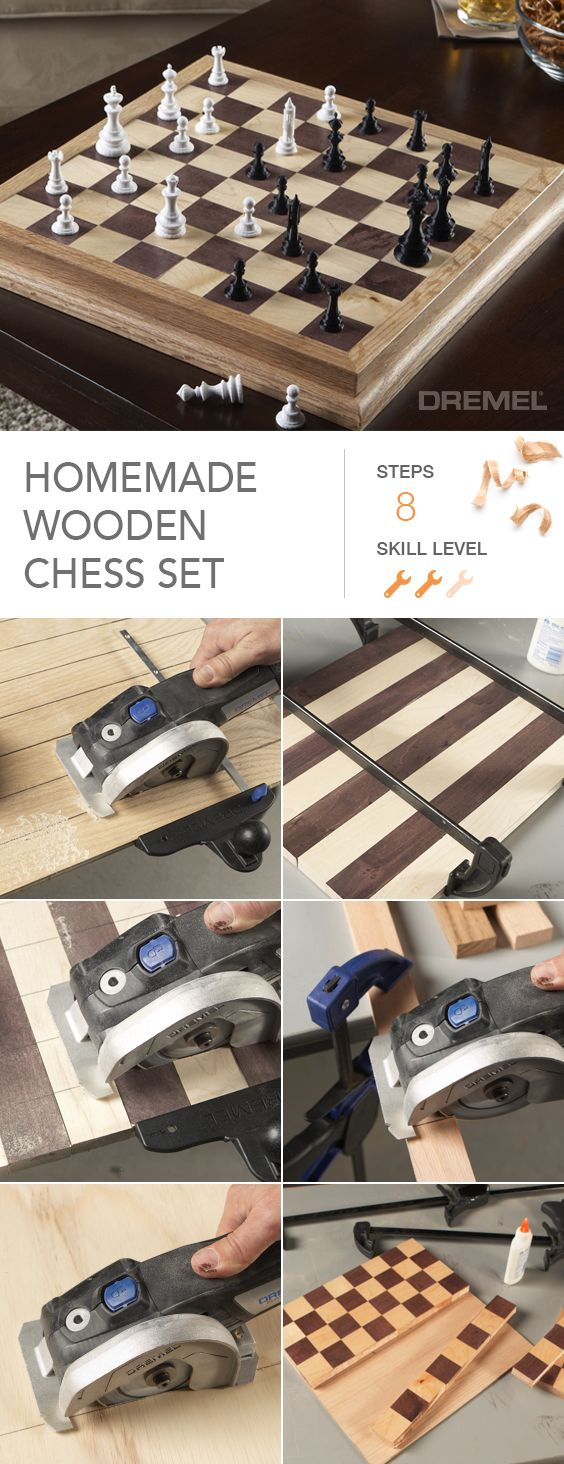 Still need a Christmas gift for that person who has everything? Make them a homemade wooden chess set with a Dremel Idea Builder 3D printer and a Dremel Ultra-Saw.