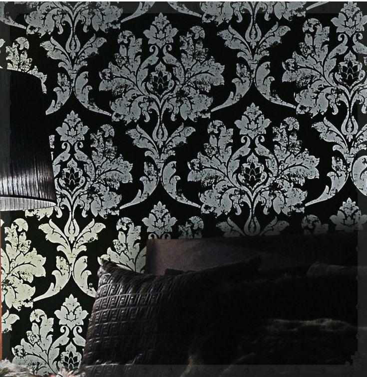 Black And Silver Wallpaper New Home Decor Black Silver