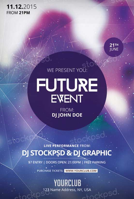 Future Event Free PSD Flyer Template - http://freepsdflyer.com/future-event-free-psd-flyer-template/ Enjoy downloading the Future Event Free PSD Flyer Template created by Stockpsd!  #Club, #Dj, #EDM, #Electro, #Music, #Night, #Nightclub, #Party, #Techno, #Trance