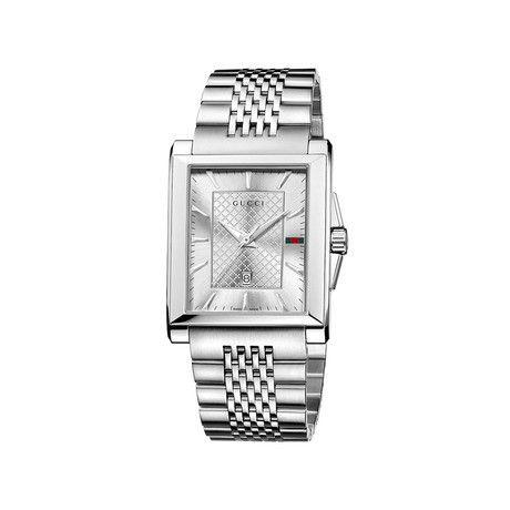 Gucci G-Timeless Rectangle Quartz // YA138403