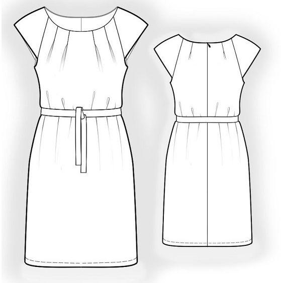 Robe casual Cd 24 - Patron gratuit à télécharger ( free pattern) Et bien d'autres encore sur le site...
