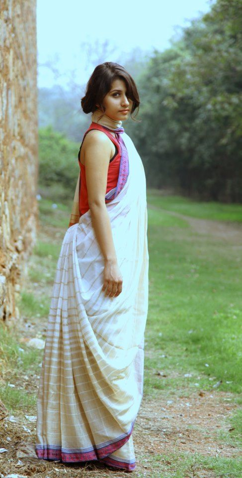 A different way to drape saree
