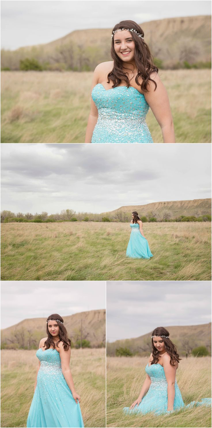 High School Graduation 2015 Highlights | Medicine Hat Photography.  Photo ideas for grad student in teal dress with crystals for prom. Taken by Woods Photography at Medalta Potteries in Medicine Hat.  #graduation #prom #photography