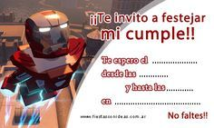 Tarjeta de cumpleaños de ironman-lego