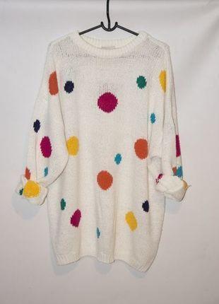 Kup mój przedmiot na #vintedpl http://www.vinted.pl/damska-odziez/dlugie-swetry/12558052-sweter-oversize-w-kropki