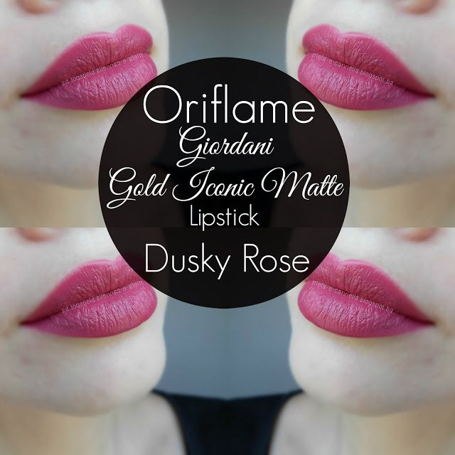 Oriflame - Giordani Gold Iconic Matte Lipstick - Dusky Rose matte Oriflame ruž
