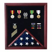 Extra Large Flag Plus Medal Display Case