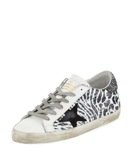 750c04585e0db Get free shipping on Golden Goose Superstar Smudge-Print Leather Platform  Sneaker at Neiman Marcus. Shop the latest luxury fashions from top  designers.