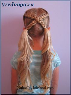 Колоски и косы - прически для девочек#little #girl #hairstyle