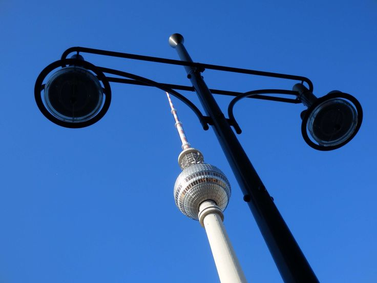#architecture #berlin #dome #germany #lamp post #landmark #low angle shot #sky #tv tower
