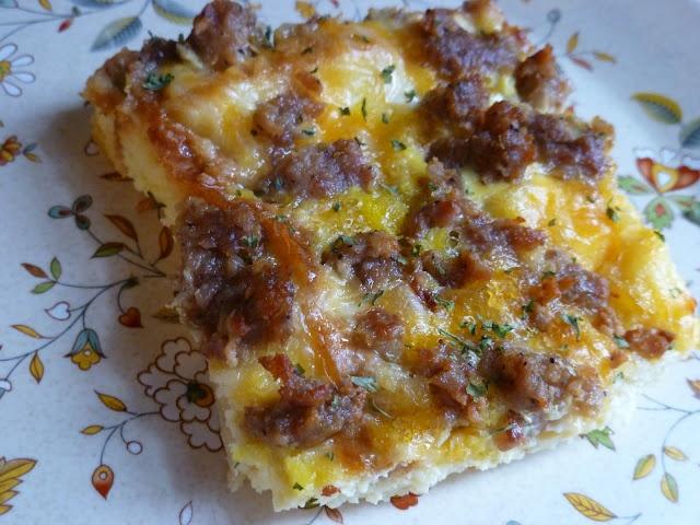 Sausage breakfast bake | food | Pinterest