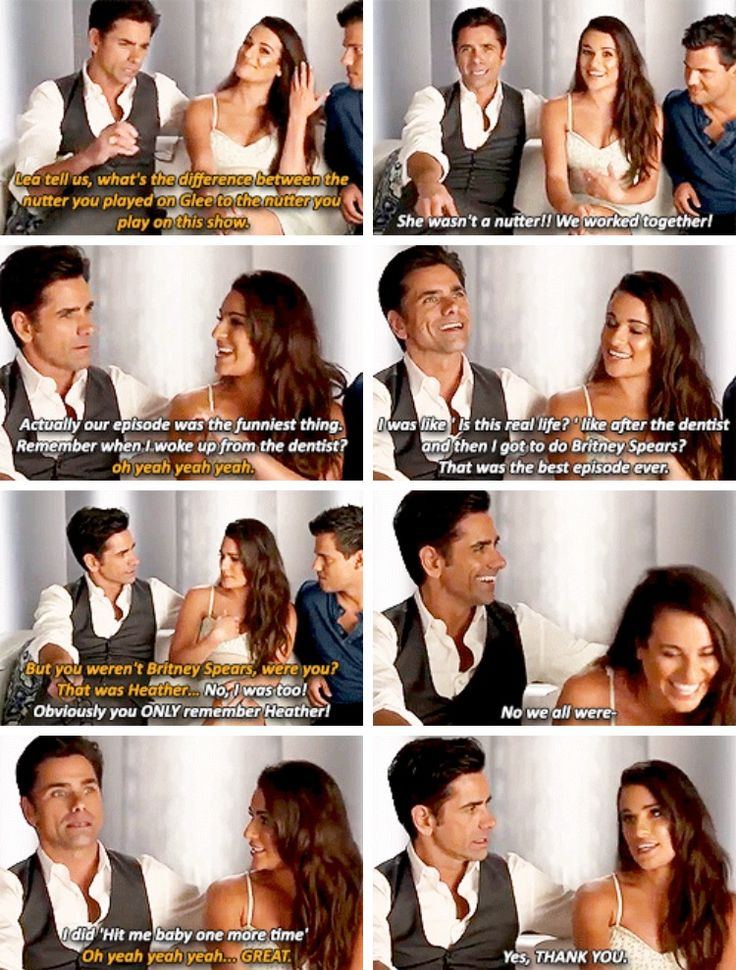 Lea Michele and John Stamos on Glee's Britney episode