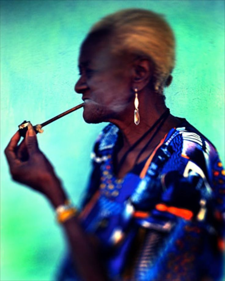 woman smoking pipe Love this! What colors.