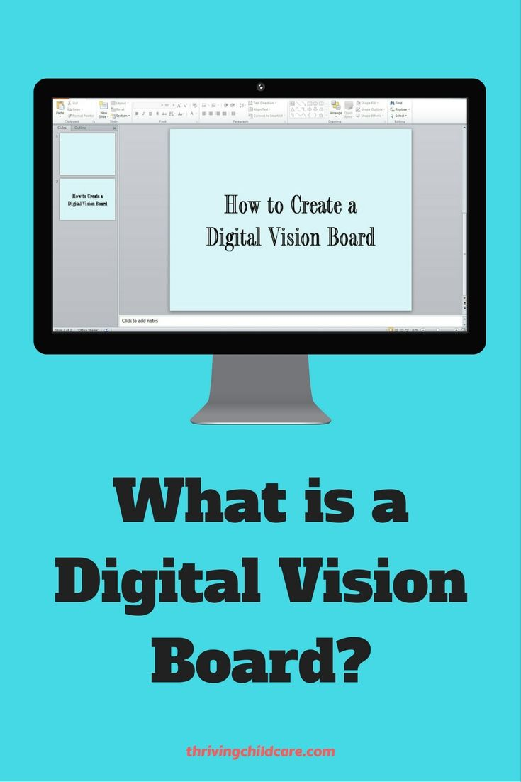 Thinking about creating a vision board for your New Year's goals?  How about a Digital Vision Board?  See how.