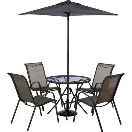 Andorra 4 Seater Garden Furniture Set - Bronze