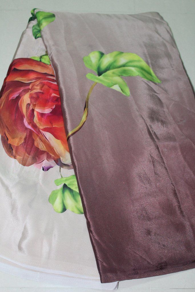 DIGITAL FLORAL PRINTED CRAPE FABRIC