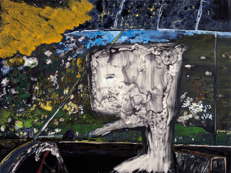 John Lurie Art  when i die, i want to go like my grandfather, asleep and at peace. not like the people screaming in the other car.