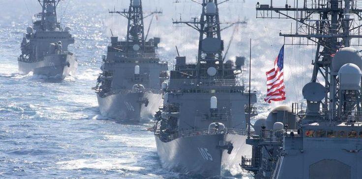 Japón y Estados Unidos realizan maniobras navales conjuntas - El Nuevo Dia.com