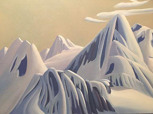 Ken Harrison - Bugaboo 18 x 24 Oil on canvas