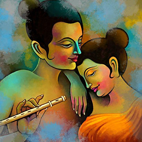 Art Factory Radha Krishna Painting - B00ROSKO84