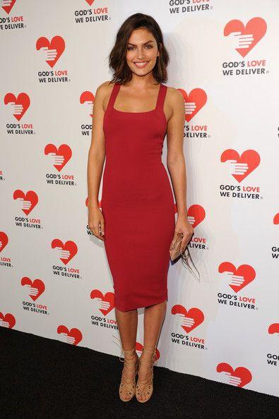 Alyssa Miller's Red Bodycon Dress