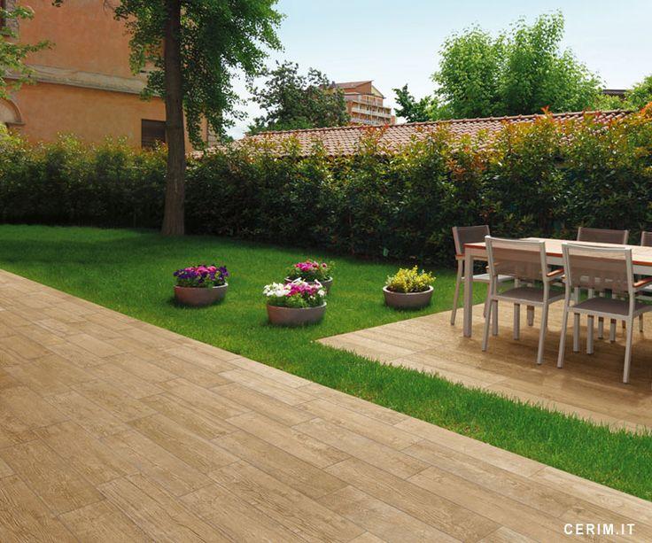 Wood-effect Floor Tiles Outdoor