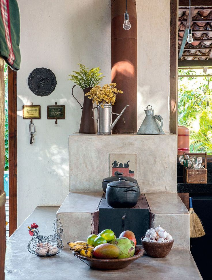 Masonry Heater. adelaparvu.com despre casa rustica cu aspect contemporan, arhitect José Ricardo Fois, Foto Casa Claudia (1)