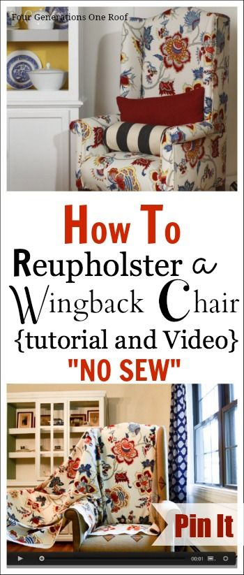 How to reupholster a chair {tutorial + video} - Four Generations One Roof