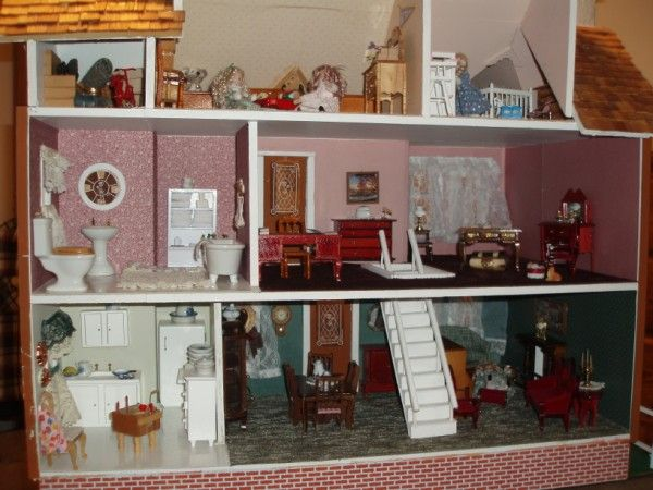 Dollhouse Interior Dollhouses Pinterest