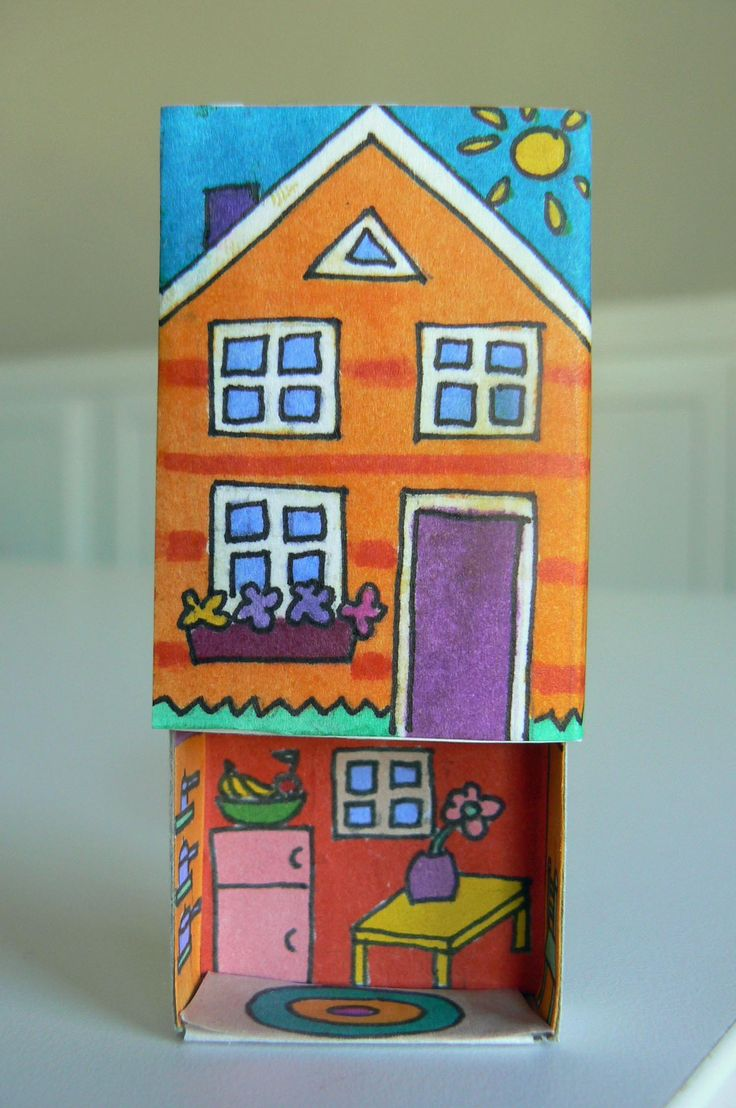 More elfin houses . . . for this one I drew floorplans that fit inside a matchbox. Printable coloring pages to make your own matchbox homes :-) She is amazing!