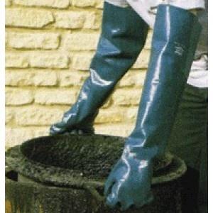 Guante nitrilo P57B - Gran agarre y resistencia a la abrasión. Su diseño más largo ofrece protección desde la punta del dedo hasta el antebrazo.  Nitrilo con soporte de algodón piqué.  http://www.janfer.com/es/sinteticos-con-soporte/964-guante-nitrilo-p57b.html