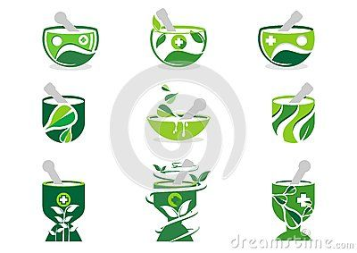Mortar and pestle logo, pharmacy logos medicine herbal nature illustration set of collection symbol icon vector design - http://www.dreamstime.com/stock-photography-image58470072#res7049373