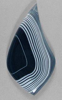 Tuxedo Agate cab! Silverhawk's designer gemstones.