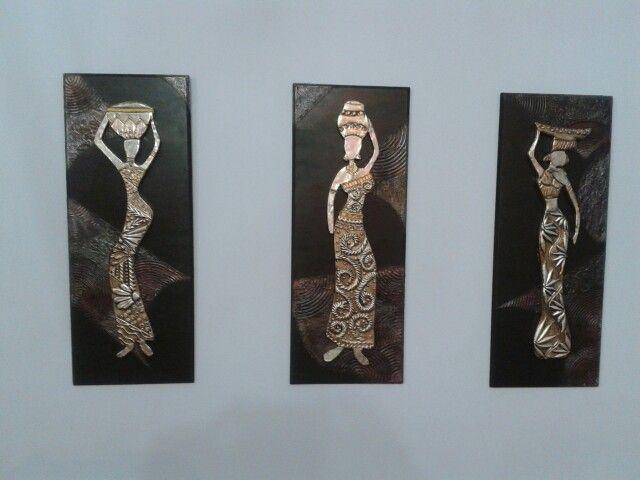 Repujado en aluminio...Africanas!!