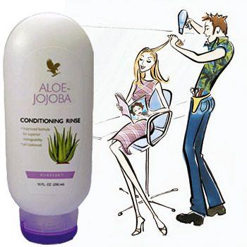 Forever Living Products dopo aver creato Aloe Jojoba Shampoo, non poteva non creare un balsamo con gli stessi ingredienti principali e le stesse qualità benefiche, si tratta di Aloe Jojoba Conditioning Rinse, un balsamo a pH bilanciato, delicato ed efficace.