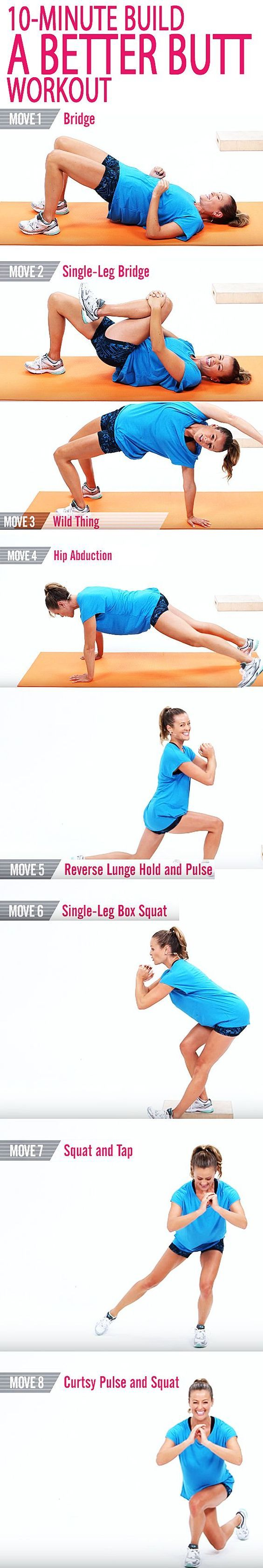 It's time to shape and tone your butt. This 10-minute workout is full of power moves to strengthen your glutes while giving the backside a serious lift. And you don't need any weights for this, so press play and start working it!