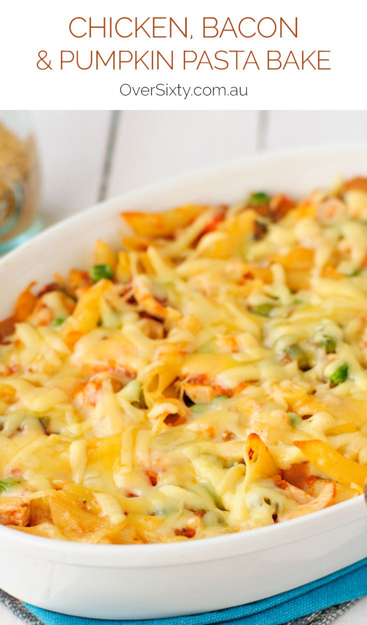 Chicken, Bacon & Pumpkin Pasta Bake - this recipe is perfect for a cosy winter's night in. Just grab some macaroni and your favourite cheese.