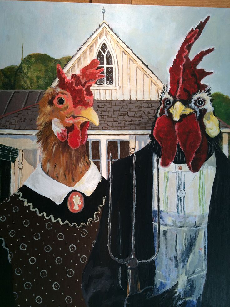 American Gothic for the Chicken Enthusiast......