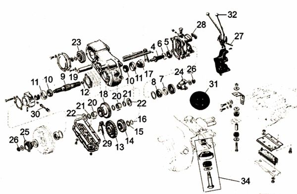 transfer case dana spicer 18 exploded view diagram willys jeep model 18 transfer case parts