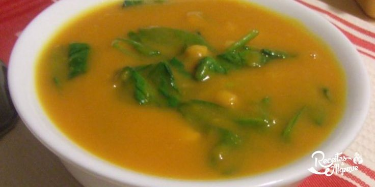 Receitas do Algarve | Sopa de grão com espinafres | São Brás de Alportel