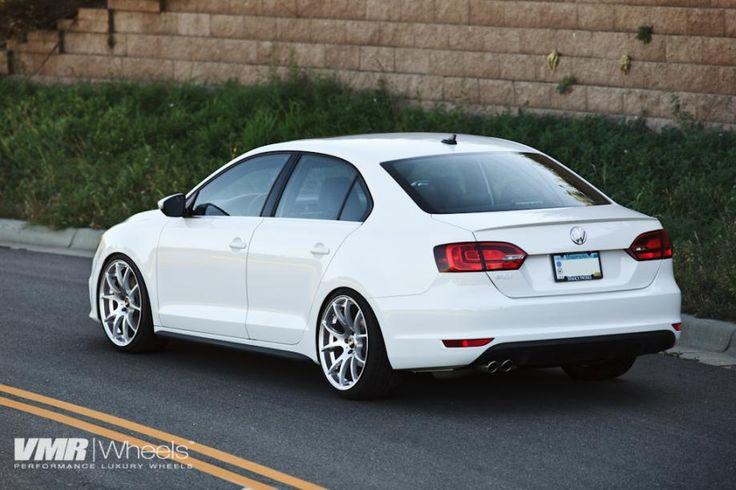 VMR Wheels VW Jetta White V713 19 Hyper-Silver 2598