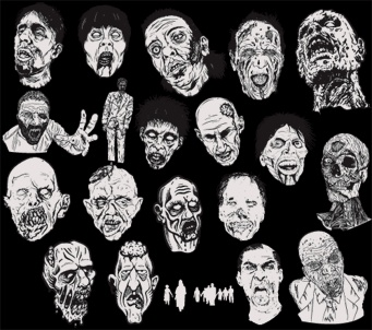 zombies vector art - $9.99 for the set