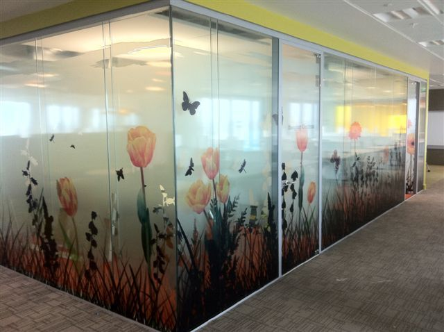 printed on glass | Printed glass manifestation film